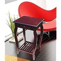 Home Accents Mahogany Finish Carolina Small Storage End Table - Night Stand