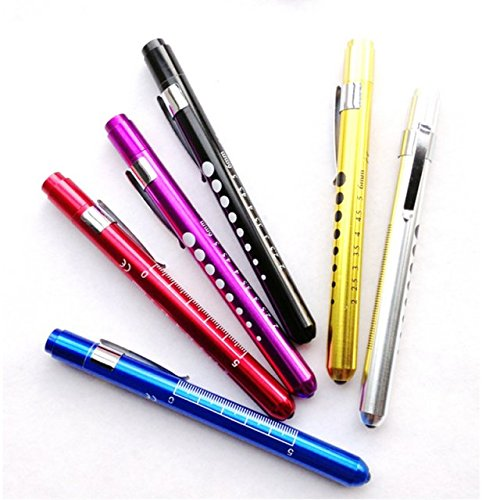 Liroyal Penlight Pen Light Flashlight LED Torch Doctor Nurse EMT Emergency Medical First Aid Purple
