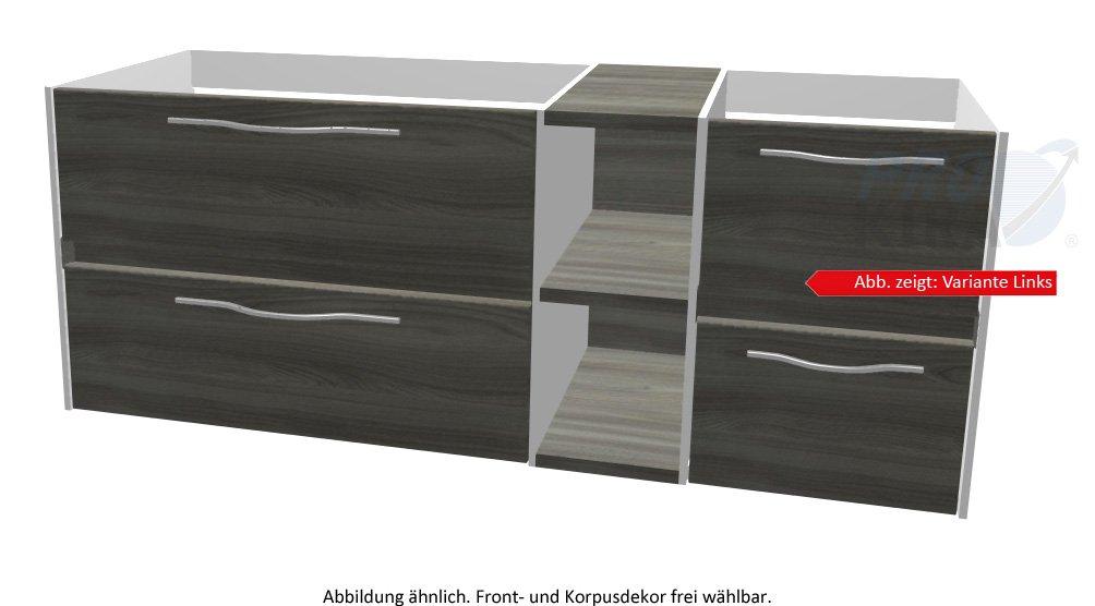 PELIPAL SOLITAIRE 6010 Waschtischunterschrank / WTUSL 04/05 / Comfort N / 132x51,2x49,3cm