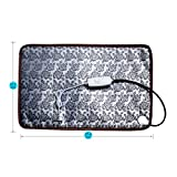 """Pet Heating Pad Cat Heating Mat Waterproof Pets Heated Bed Adjustable Dog Bed Warmer Electric Heating Mat With Chew Resistant Steel Cord (29.7x17.7"""", Flower)"""