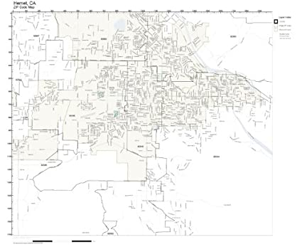 Hemet Ca Zip Code Map.Amazon Com Zip Code Wall Map Of Hemet Ca Zip Code Map Not