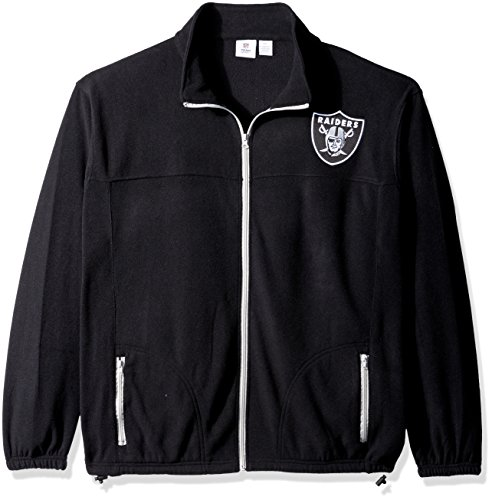 Polar Fleece Raiders Oakland (NFL Oakland Raiders Men FULL ZIP POLAR FLEECE, BLK/GRY, 4XT)