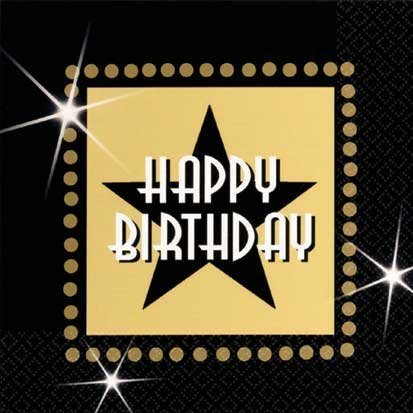 Star Attraction Happy Birthday Beverage Napkins, 8ct by ABH