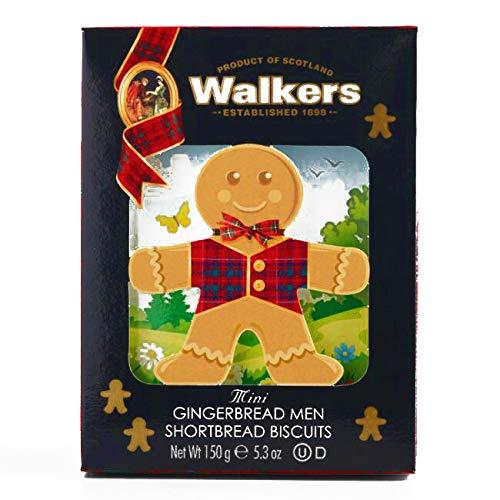 Walkers Gingerbread Man Shortbread Biscuit Boxes 5.3 oz each (1 Item Per Order, not per case)
