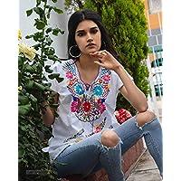 """Blusa multicolor bordada""""Kimona"""""""