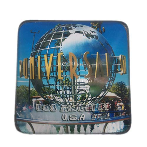 Universal studios Los Angeles America USA Refrigerator Fridge Magnet City World Crystal Glass Handmade Tourist Travel Souvenir Collection Strong Word Letter Sticker Kids ()