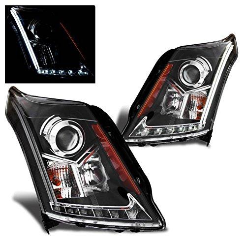 sppc-black-projector-headlights-plank-bar-for-cadillac-srx-pair