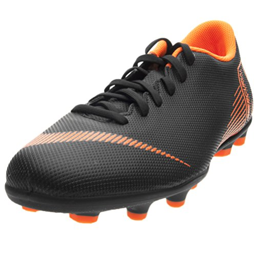Nike Men's Vapor 12 Club (MG) Multi Ground Soccer Cleat Black/Total Orange/White Size 8.5 M US (Nike Vapor Carbon Fly Td Cleats For Sale)