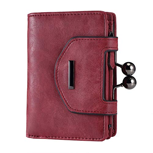 Women's Leather Organizer Wallets Clutch Purse with Checkbook and Cards Holder - 2 Styles