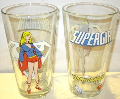 Supergirl Toon Tumblers Pint Glass
