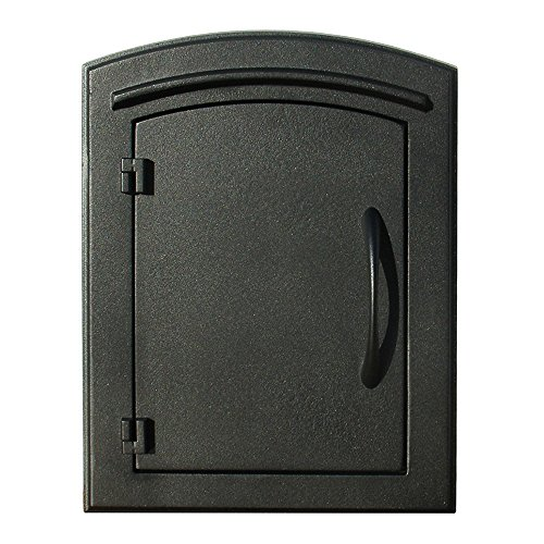 QualArc MAN-S-1400BL Manchester with Security Chute Column Mount Mailbox Plain Door in (Column Insert Mailboxes)