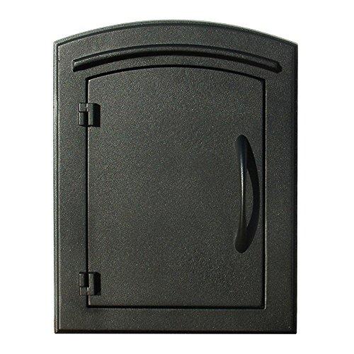 QualArc MAN-S-1400BL Manchester with Security Chute Column Mount Mailbox Plain Door in (Mailbox Plain Door)