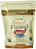 Organic Ground Premium flaxseed, 14 oz (396 g) by Spectrum Essentials