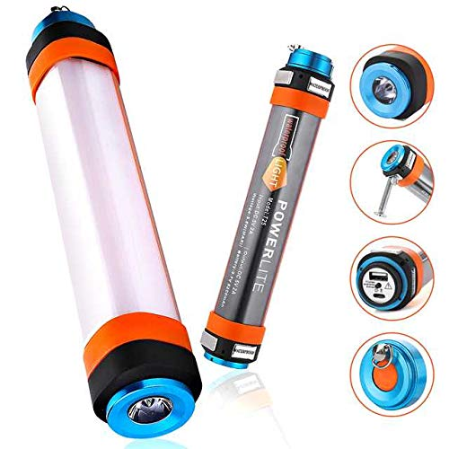 Audew LED Camping Flashlight,Rechargeable Camping Lights, Multiple-Function Led Flashlight for Vehicle Repair SOS Emergency Camping Hiking Waterproof &Portable Magnetic Power Bank 5200 mAh