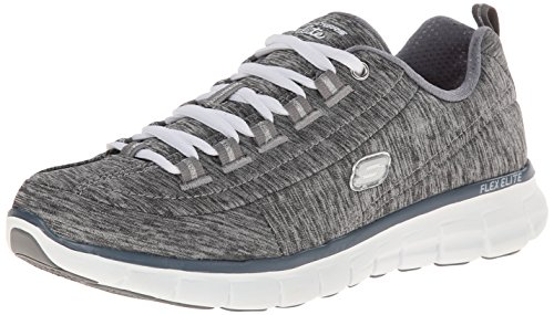 Skechers Sport Women's Synergy Spot On Fashion Sneaker,Gray,7 M US