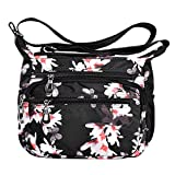Lvtree Crossbody Bags for Women, Lightweight Nylon Medium Travel Shoulder Purse with Multi-Pocket