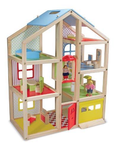 Melissa & Doug Wooden Hi Rise Dollhouse