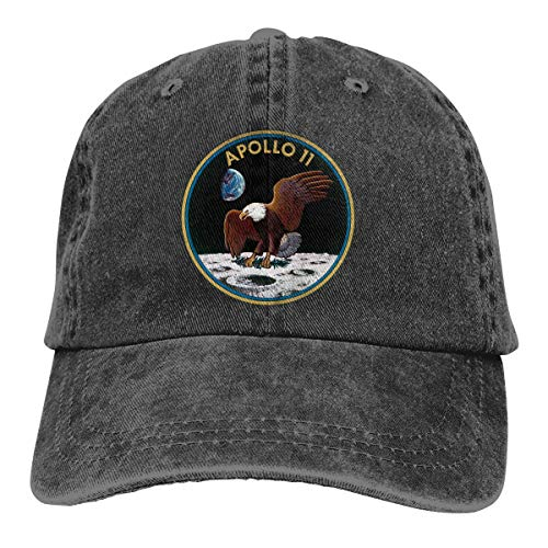 BLJKLI Adult Apollo 11 Mission Jeans Caps Retro Style Adjustable Baseball Cap