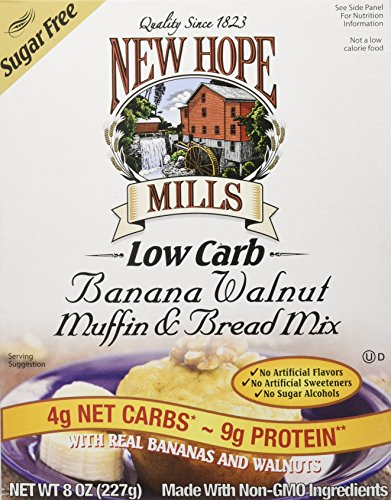 New Hope Mills - New Hope Mills Low Carbohydrate Bread and Muffin Mix, Banana Walnut, 2 Count