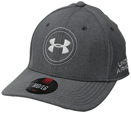 Under Armour Men's Golf Official Tour Cap, Black /White, Large/X-Large