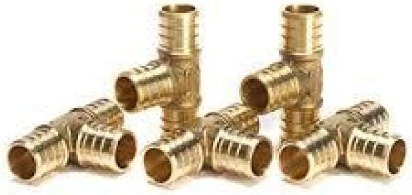 """100 PCS CERTIFIED LEAD FREE BRASS 1//2/"""" PEX CRIMP FITTINGS SS CINCH CLAMP"""