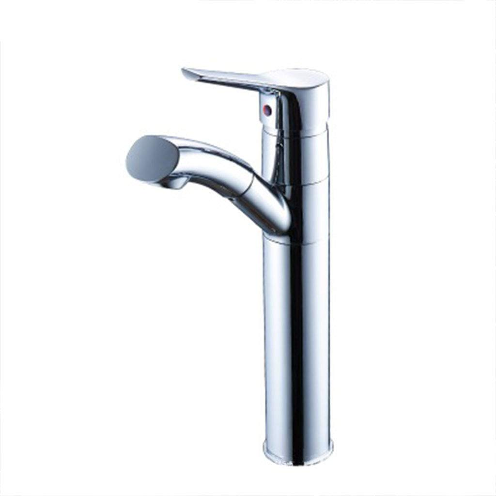 Bathroom Basin Faucet, Can Pull Out 360° Rotatable Copper Chrome Hot And Cold Kitchen Sink Faucet, Kitchen Spray Faucet Modern Minimalist Interior Decoration