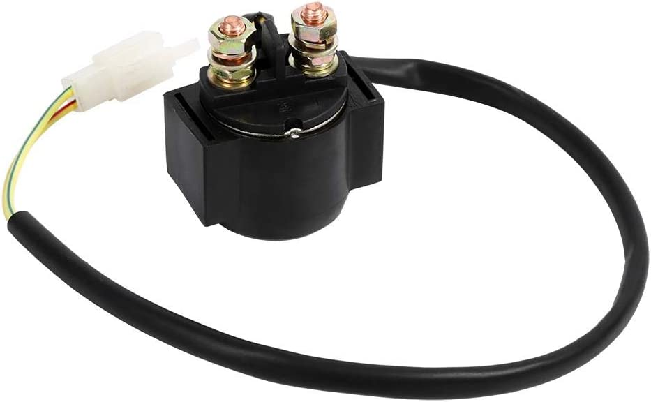 EVGATSAUTO Starter Relay Solenoid Fit for Chinese Scooter ATV 50cc 125cc 150cc 250cc Solenoid Starter Relay