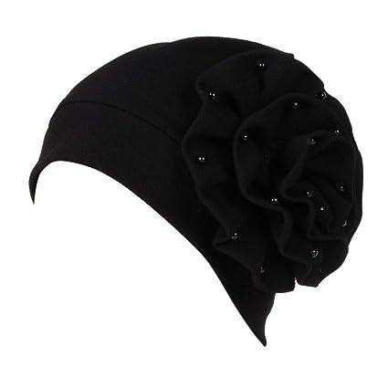 7fcb4b8e4d7 Sunshinehomely Elegant Women s Flower Muslim Cancer Chemo Hat Turban Cap  Cover Hair Loss Head Scarf (