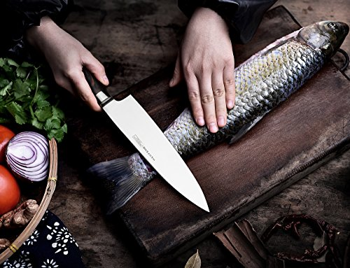 WENFENG Chef Knife, 8 Inch Kitchen Knife High Carbon Stainless Steel Sharp Knives with Gift Box by WENFENG (Image #3)