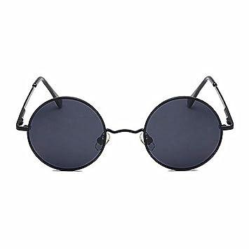 LXKMTYJ Classic Vintage Runde Gläser Polarisierte Sonnenbrillen, Blau