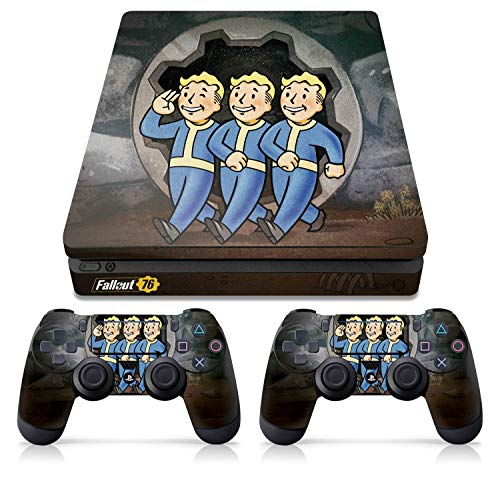 Controller Gear Officially Licensed Console Skin Bundle for PS4 Slim - Fallout - Vault Boys