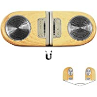 OVEVO Portable Bluetooth Speaker, Magnetic Wireless V4.2 Stereo Speakers Sound Systems, 4 in 1 Mulfunction Combination Together/Separated/Indoor/Outdoor loudspeaker Box, Waterproof (Wood Grain)
