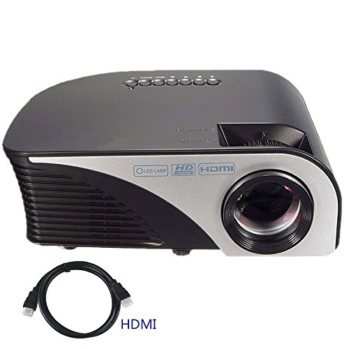 """Projector,XINDA Video Projector +80% Lumens for 170"""" Home"""
