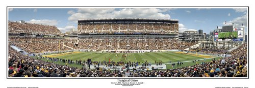 SportsMagicK Pittsburgh Steelers Inaugural Game at Heinz Field 2011 Panoramic Poster #1064