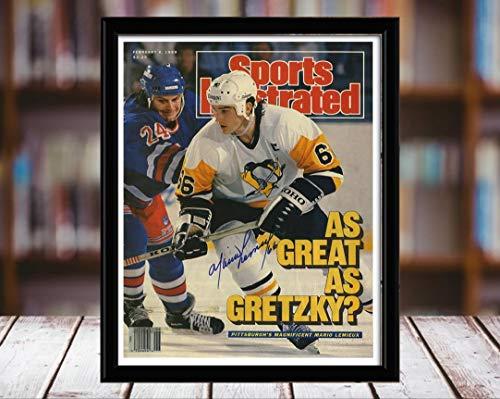Mario Lemieux Sports Illustrated Autograph Replica Print - Pittsburgh Penguins - 2/6/89 - 5x7 Desktop Framed Print