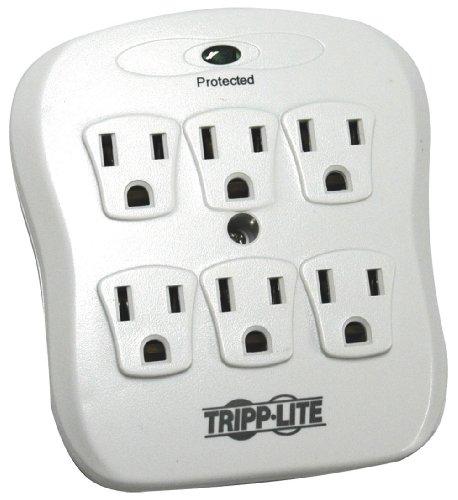 Tripp Lite 6 Outlet Surge Protector Power Strip, Direct Plug