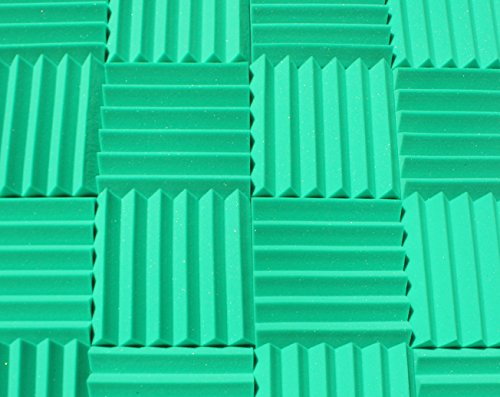 - Soundproofing Acoustic Studio Foam - Kelly Green Color - Wedge Style Panels 12