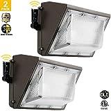 100W Led Wall Pack Light, Outdoor Dusk to Dawn Light for 120-277V, 5000K, 11000Lumen, Ip65 Waterproof Security Area Lighting - 2PK