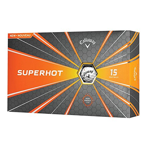 Callaway Golf 2018 Superhot Golf Balls (Pack of 15), White