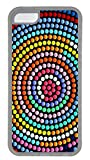 iPhone 5C Case, iPhone 5C Cases - Ultra Clear Rubber Case Cover for iPhone 5C Colorful Abstract Centrifugal Dots Protective Crystal Clear Soft Back Case Bumper for iPhone 5C