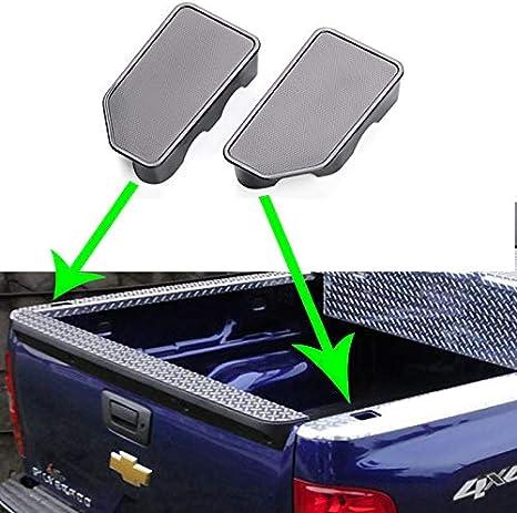 2 Packs TTCR-II for 2019-2020 Chevy Silverado GMC Sierra Bed Rail Stake Hole Cover Caps