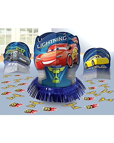 Cars 3 Table Decorating Kit 23 piece (Disney Cars Party Table)