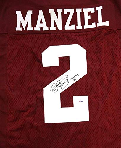 Image Unavailable. Image not available for. Color  Texas A M Aggies Johnny  Manziel Autographed Maroon ... 2e6abb086