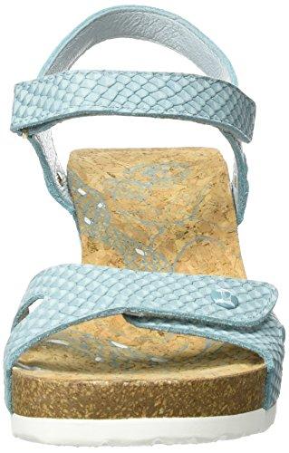 Panama Jack Julia Snake, Sandalias con Cuña para Mujer Turquesa (Turquoise)