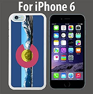 Colorado Flag Rocky Mountains Custom Case/ Cover/Skin *NEW* Case for Apple iPhone 6 - White - Plastic Case (Ships from CA) Custom Protective Case , Design Case-ATT Verizon T-mobile Sprint ,Friendly Packaging - Slim Case