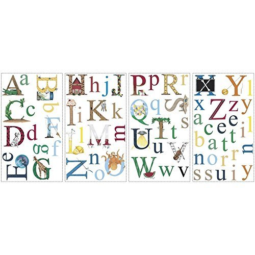 Alphabet Removable Vinyl Wall Decals Kids Room Decor 73 Big Stickers ABC Letters