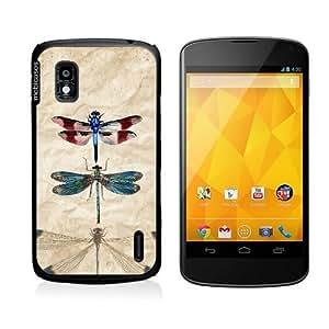 Vintage Dragonflies Retro Google Nexus 4 Case - For Nexus 4
