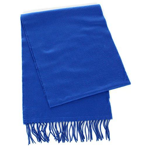 Cashmere Feel Scarf, Wrap Shawl Scarves, for Men & Women, by SERENITA, Royal Blue