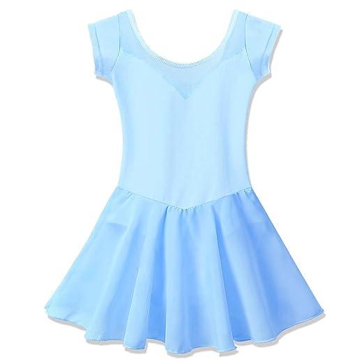 3940a1bed Amazon.com  BAOHULU Girl s Skirted Ballet Dance Leotards Short ...