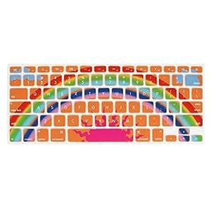 Arco iris de impresión de silicona película del teclado para MacBook Pro de 13 pulgadas de Orange